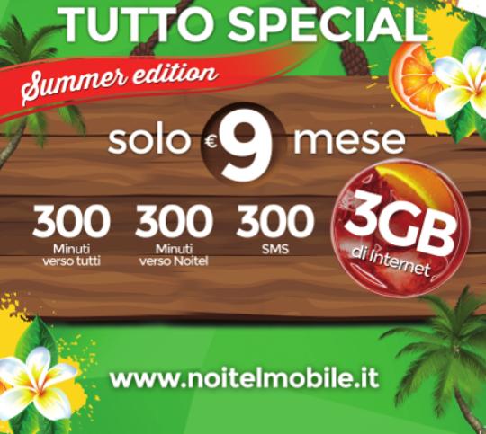 """Photo of NoiTel Mobile, in arrivo la nuova offerta """"Tutto Special Summer Edition"""" in edizione limitata"""