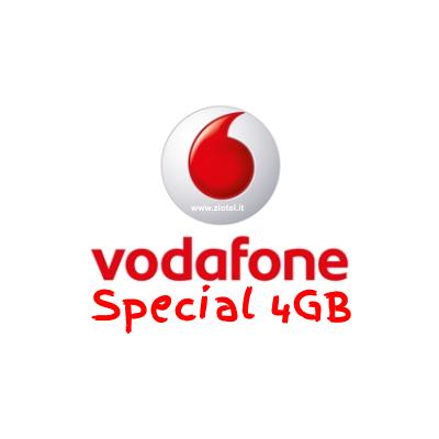 Photo of Vodafone Special 4GB 1000 minuti verso tutti e 4 Giga in 4G a 7 euro ogni 4 settimane