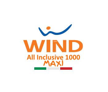 Photo of Wind All Inclusive 1000 Maxi: 1000 minuti, 1000 sms, 3 Giga in 4G a 10,50 euro ogni 4 settimane (con possibilità di arrivare fino a 13 Giga allo stesso prezzo)