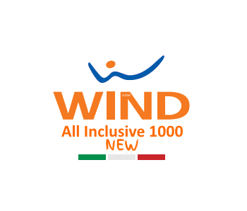 Photo of Wind All Inclusive 1000 New: 1000 minuti, 1000 sms, 2 Giga a 9 euro. Se porti i tuoi amici in Wind i Giga aumentano