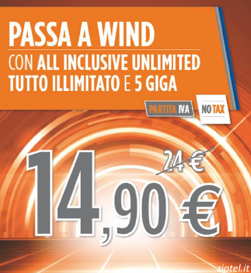 "Photo of Ritorna lo sconto ""All Inclusive Unlimited"" per chi Passa a Wind con Partita IVA"