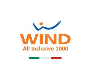 Photo of Wind All Inclusive 1000: 1000 minuti, 1000 sms, 3GB a 10,50 euro ogni 4 settimane (solo tramite la vendita a distanza)