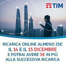 Photo of Tim: promo ricarica online del 14 e 15 Dicembre 2016