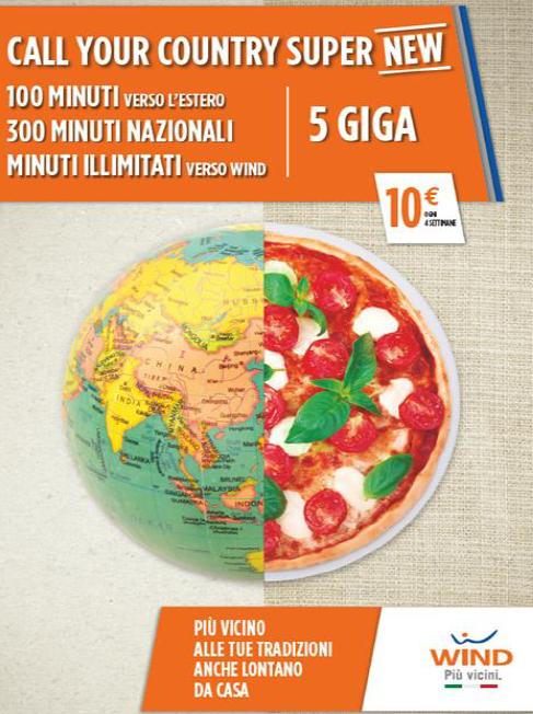 Photo of Wind Call Your Country Super New: minuti verso l'Italia e l'Estero con 5 Giga inclusi