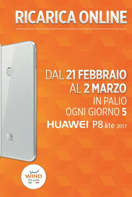 Photo of Wind, dal 21 Febbraio al 2 Marzo 2017 ricarica online e puoi vincere Huawei P8 Lite 2017