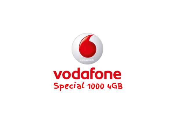 Vodafone special 1000 4gb 1000 minuti 1000 sms 4 giga - Vodafone porta un amico ...