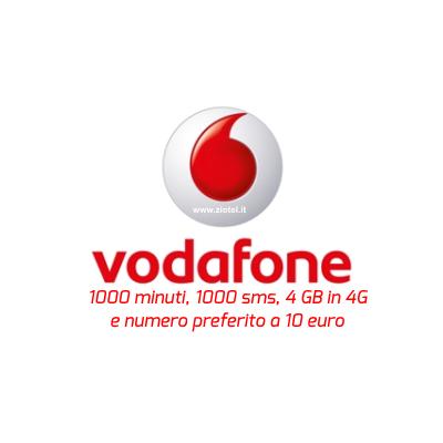 Photo of Vodafone Special 1000 4GB WinBack 1000 minuti, numero preferito, 1000 sms, 4 Giga in 4G a 10 euro