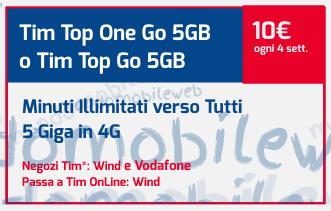 Photo of Tim Top One Go con 2 Giga Gratis: minuti illimitati verso tutti e 5 Giga in 4G a 10 euro