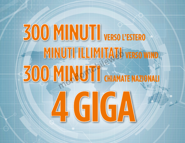 Photo of Wind Call Your Country Gold: 4 Giga in 4G, 300 minuti nazionali, 300 minuti internazionali a 9 euro. In più chiamate illimitate verso Wind