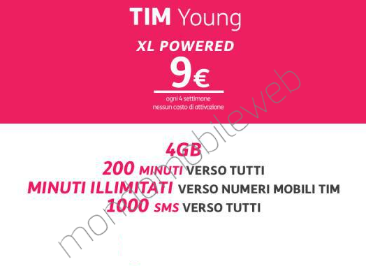 Photo of Tim: nuova versione TIM Young XL Powered New a 9 euro ogni 4 settimane