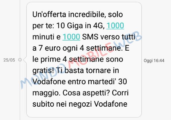 Photo of Vodafone: nuova promo Sms WinBack Special 10GB a 7 euro con le prime 4 settimane gratis