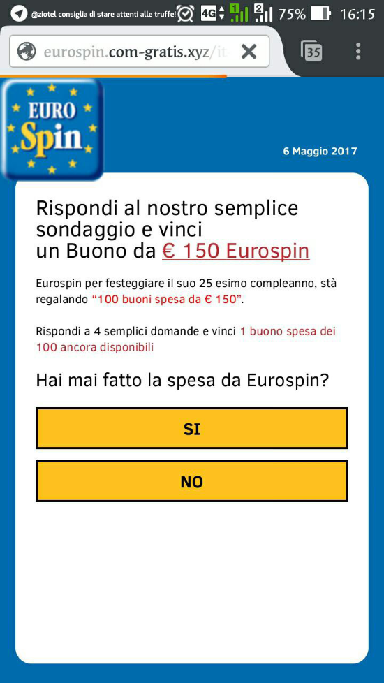 Whatsapp attenti alla truffa per vincere un buono regalo for Regalo mobile tv
