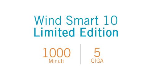 Photo of Wind Smart 10 Limited Edition: offerta online 1000 minuti e 5GB a 10 euro per tutti i nuovi clienti