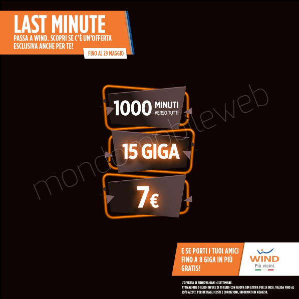 Photo of Wind: continua l'offerta Smart 7 Star con 15 Giga e 1000 minuti a 7 euro ogni 4 settimane