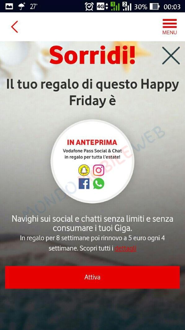 Photo of Vodafone Happy Friday regala in anteprima la nuova promo dell'estate Vodafone Pass Social & Chat per navigare e guardare i video nelle piattaforme social più utilizzate senza consumare Giga