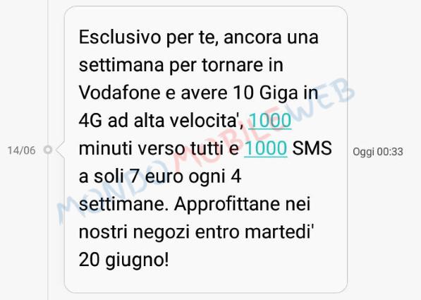 Vodafone Special 10 GB a 10 euro e tante altre promo winback