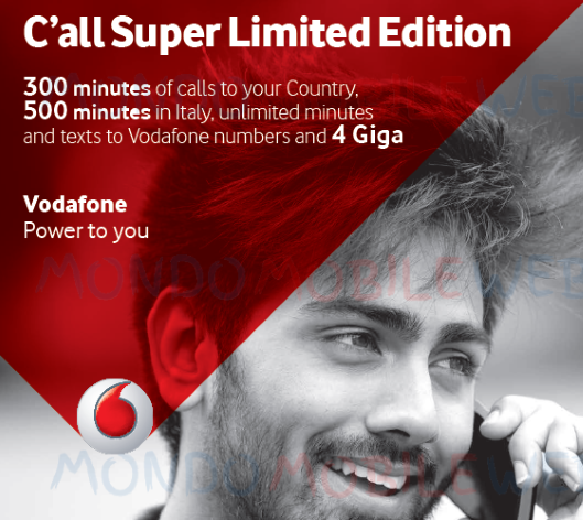 Photo of Vodafone C'all Super Limited Edition: offerta a 7 euro al mese prorogata fino al 16 Settembre 2018