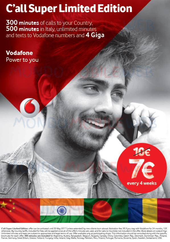 Vodafone offerta etnica c all super limited edition a 7 - Bolletta telefonica ogni 4 settimane ...