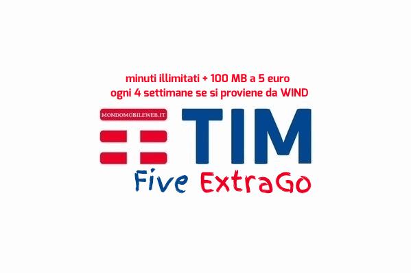 Photo of Tim Five ExtraGo a 5 euro ogni 4 settimane anche se si proviene da Wind