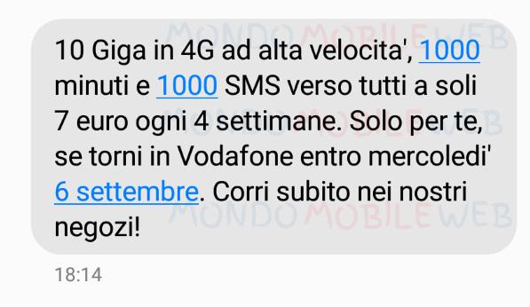 Vodafone fino al 6 settembre 2017 ritorna vodafone - Bolletta telefonica ogni 4 settimane ...