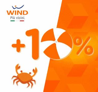 Photo of Wind: con promo ricarica online oggi 16 Ottobre 2017 è possibile ricevere il 10% di credito in più