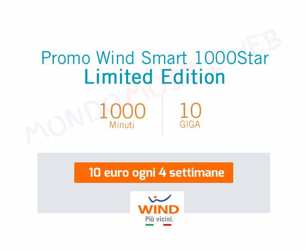 Photo of Wind: promo 1000 Star Limited Edition con 1000 minuti e 10GB a 10 euro per tutti i nuovi clienti