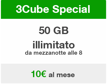 Tre: offerta convergente 3Cube Special con 50GB e Night Free a 10 ...