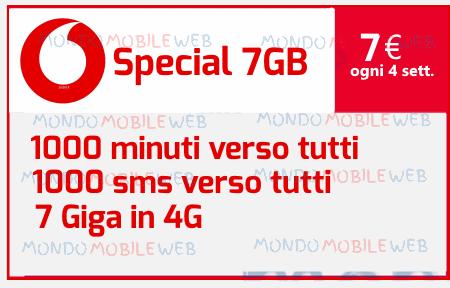 Photo of Come attivare Vodafone Special 7GB con 1000 minuti, 1000 sms, 7 Giga in 4G a 7 euro ogni 4 settimane
