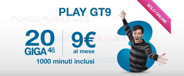 Photo of Tre Play GT9 OnLine: fino a 1000 minuti e fino a 20 Giga per tutti i nuovi clienti
