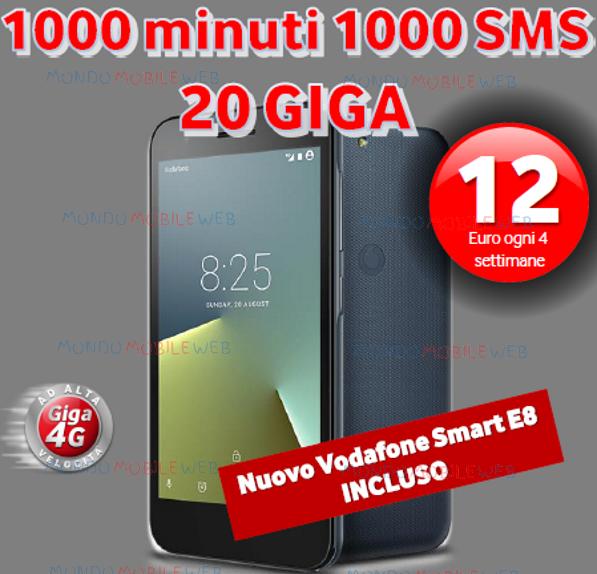 Photo of Vodafone Special 20GB con Smartphone incluso: 1000 minuti, 1000 sms, 20 Giga in 4G a 12 euro ogni 4 settimane