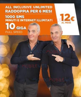 """Photo of Wind: promozione """"Raddoppia per 6 mesi"""" anche per i già clienti All Inclusive Unlimited"""