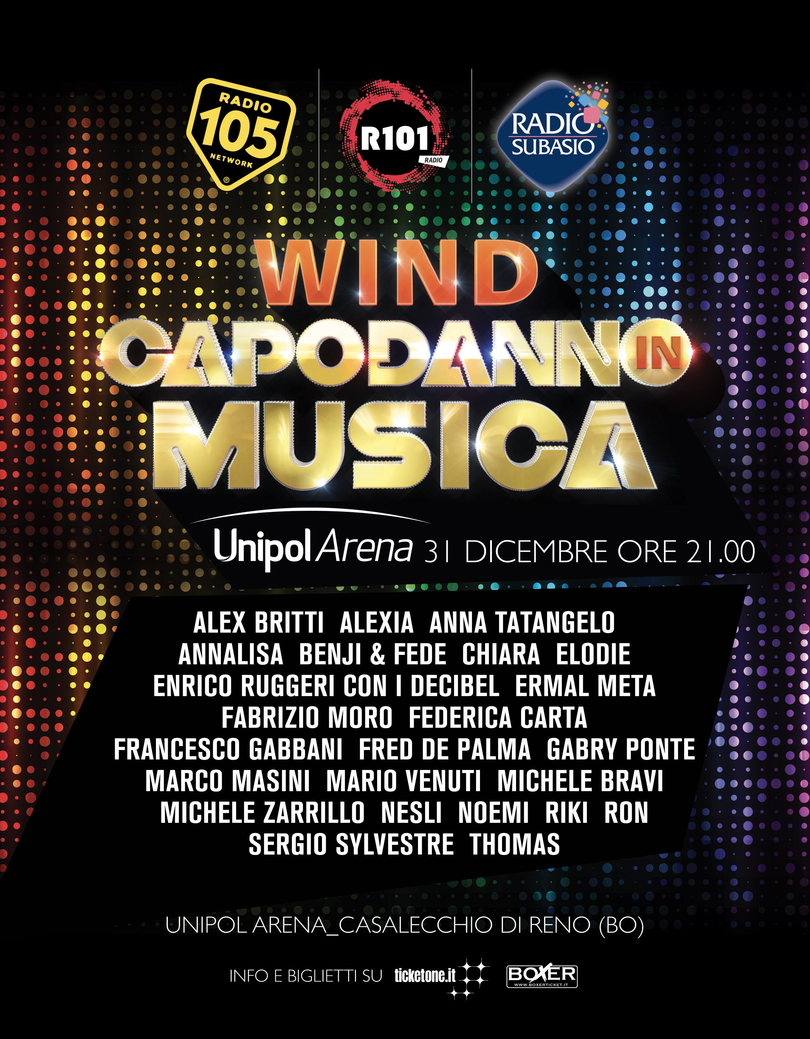 Photo of Wind, main sponsor del Capodanno in Musica in diretta su Canale 5, Radio 105, R101 e Radio Subasio