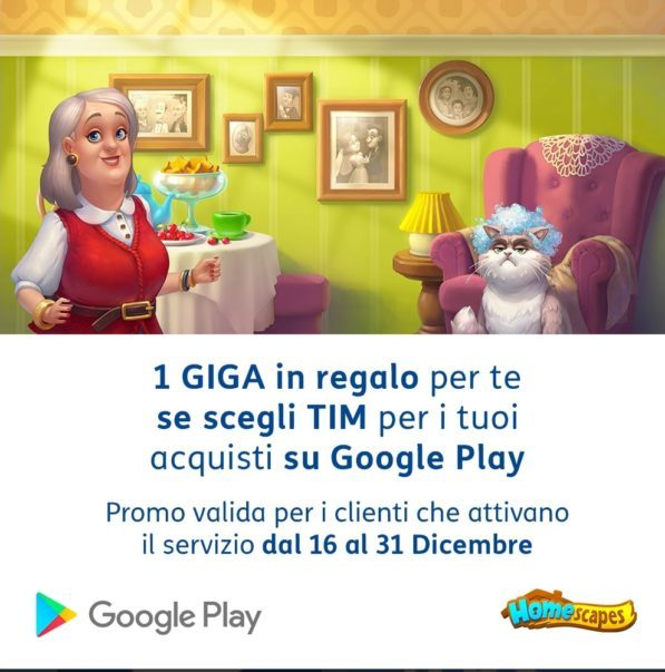 Photo of TIM: 1 Giga in regalo per una settimana se si acquista con Fatturazione TIM su Google Play Store