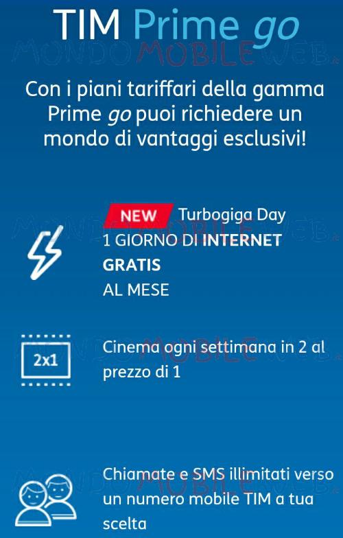 Tim regala 1 giorno di internet gratis al mese anche con i for Creatore di piani gratuito