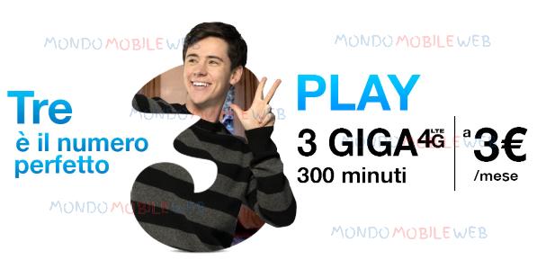 """Photo of Tre: link speciale per attivare """"Play Digital 3 euro"""" senza costo di attivazione"""
