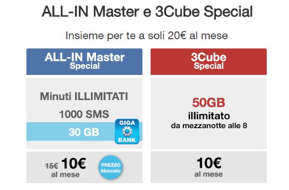 Tre continua l\'offerta convergente All-In Special + 3Cube Special ...