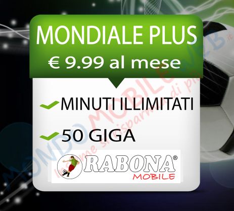 Photo of Rabona Mobile arriva l'Offerta Epifania dell'opzione Mondiale Plus con minuti illimitati e 50 Giga in 3G