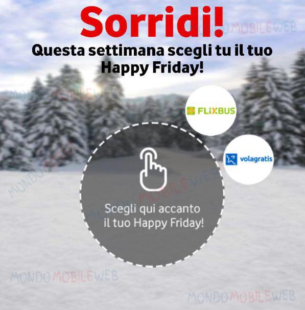 Questa settimana Happy Friday di Vodafone vi invita a viaggiare