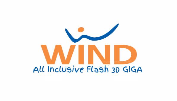 Photo of Wind All Inclusive Flash 30 Giga: 1000 minuti verso tutti, 500 sms, 30 Giga in 4G a 10 euro al mese