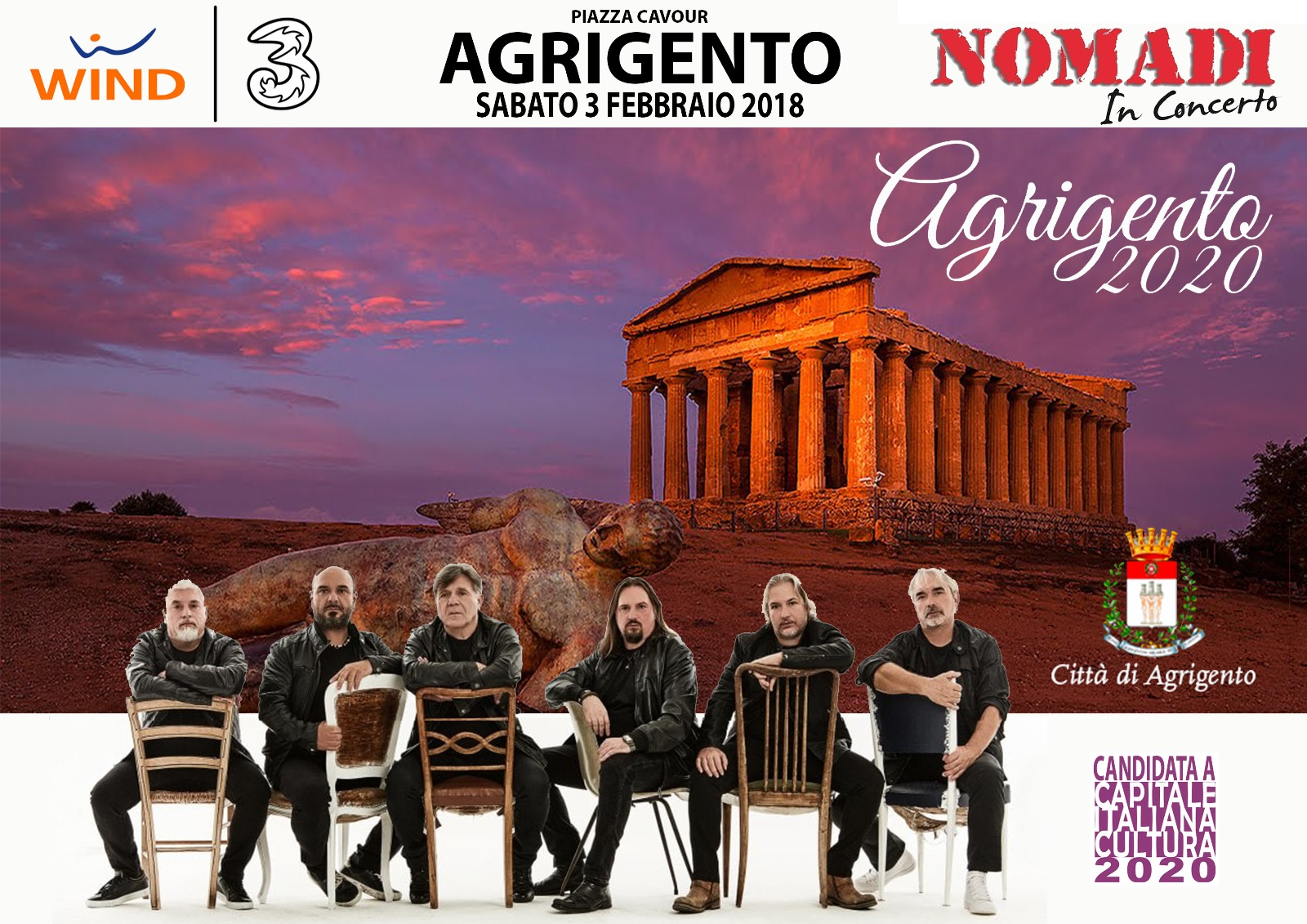 Photo of Wind Tre sostiene la candidatura di Agrigento come Capitale italiana della Cultura 2020