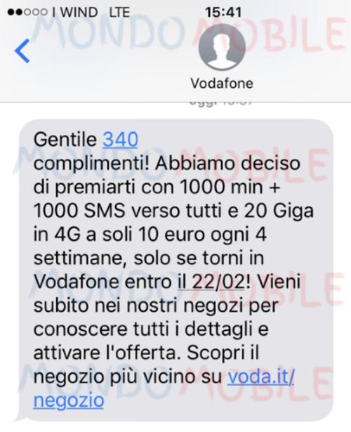 Photo of Vodafone Special 20GB: fino al 22 Febbraio 2018 proposta ad alcuni ex clienti attualmente con Wind e 3