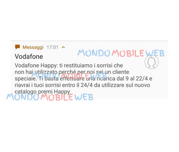 Photo of Vodafone Happy: SMS ad alcuni clienti per riavere i sorrisi non utilizzati entro il 28 Marzo 2018. In arrivo nuovo catalogo premi