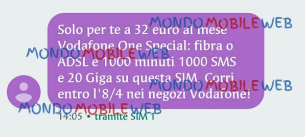 Vodafone Sms Ad Alcuni Clienti Selezionati Per Attivare