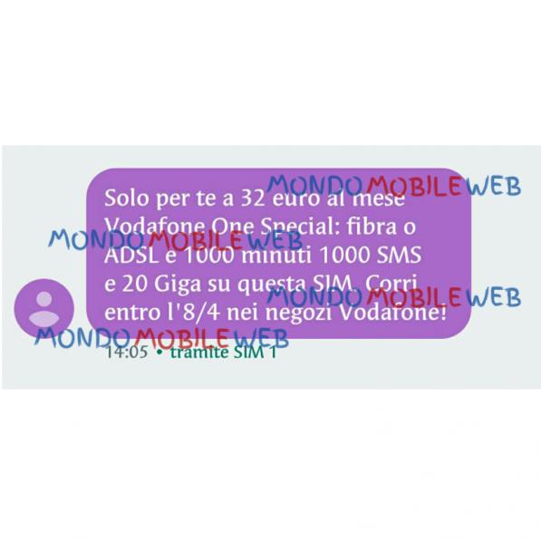 Photo of Vodafone: SMS ad alcuni clienti selezionati per attivare Vodafone One Special a partire da 32 euro al mese