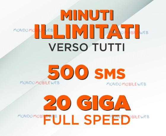 Photo of Wind All Inclusive Flash 20 Giga: minuti illimitati verso tutti, 500 sms, 20 Giga in 4G a 12 euro al mese se si proviene da Vodafone