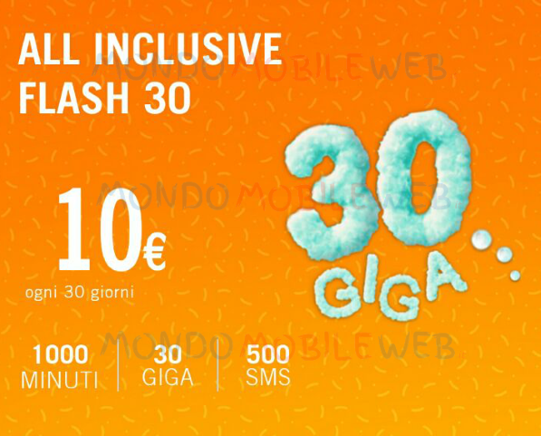 All Inclusive Flash 30 Giga: come attivare online l'offerta di Wind