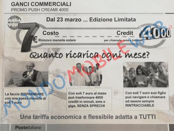 Passa a PosteMobile Creami 4000 a soli 7 euro al mese