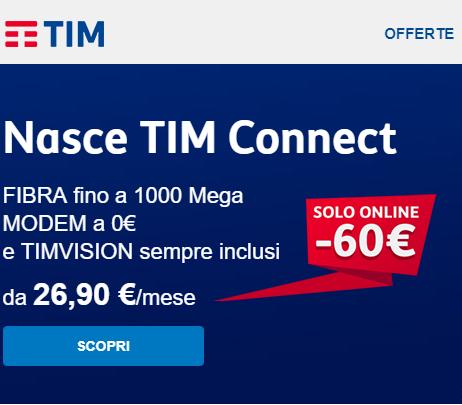 Photo of 60 euro di sconto per i primi 6 mesi per chi attiva online un'offerta di rete fissa TIM Connect