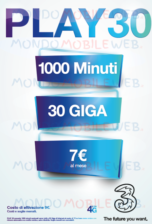 Tre proroga le offerte Play 30, Play 30 Special e Play 30 Unlimited ...