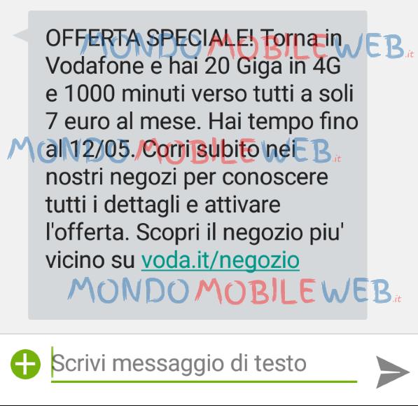 Photo of Vodafone: arriva la nuova versione winback Vodafone Special Minuti 20 Giga a 7 euro al mese